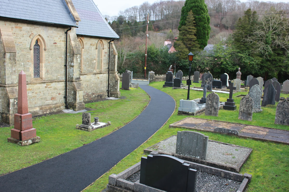 St Barnabas Church - the path and part of the graveyard